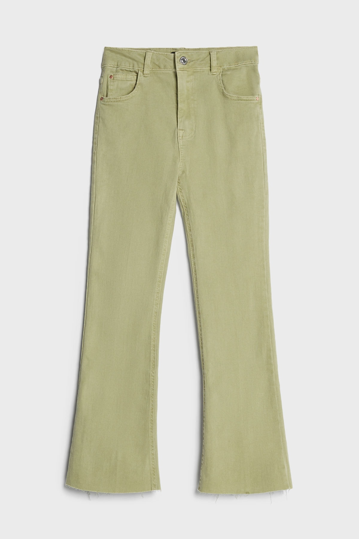 Bershka Kadın Haki Kick Flare Pantolon 05233019 2