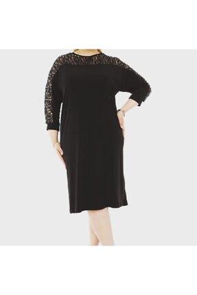 RMG Kadın Siyah Büyük Beden Abiye Elbise