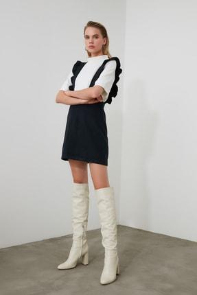 TRENDYOLMİLLA Lacivert Fırfırlı Jile Elbise TWOAW20EL0292