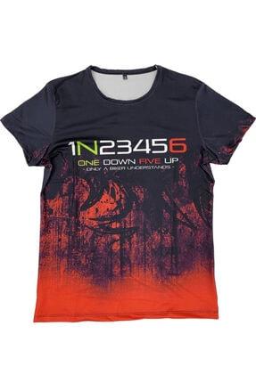 Prosev 1n23456 Motosiklet Erkek T-shirt Siyah-kırmızı