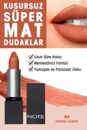 NOTE Mattever Ruj Mat ve Kalıcı Etkili 04 Indian Curry