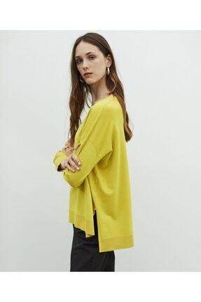 MISS IPEKYOL Kadın Sarı V Yaka Basic Triko