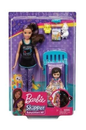 Barbie Bebek Bakıcılığı Oyun Seti Beşikli