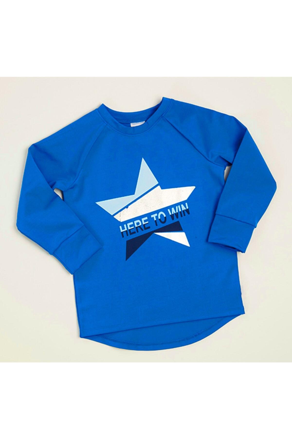 Wonder Kıds Kız Çocuk Mavi Wonder Kids Sweatshirt 1