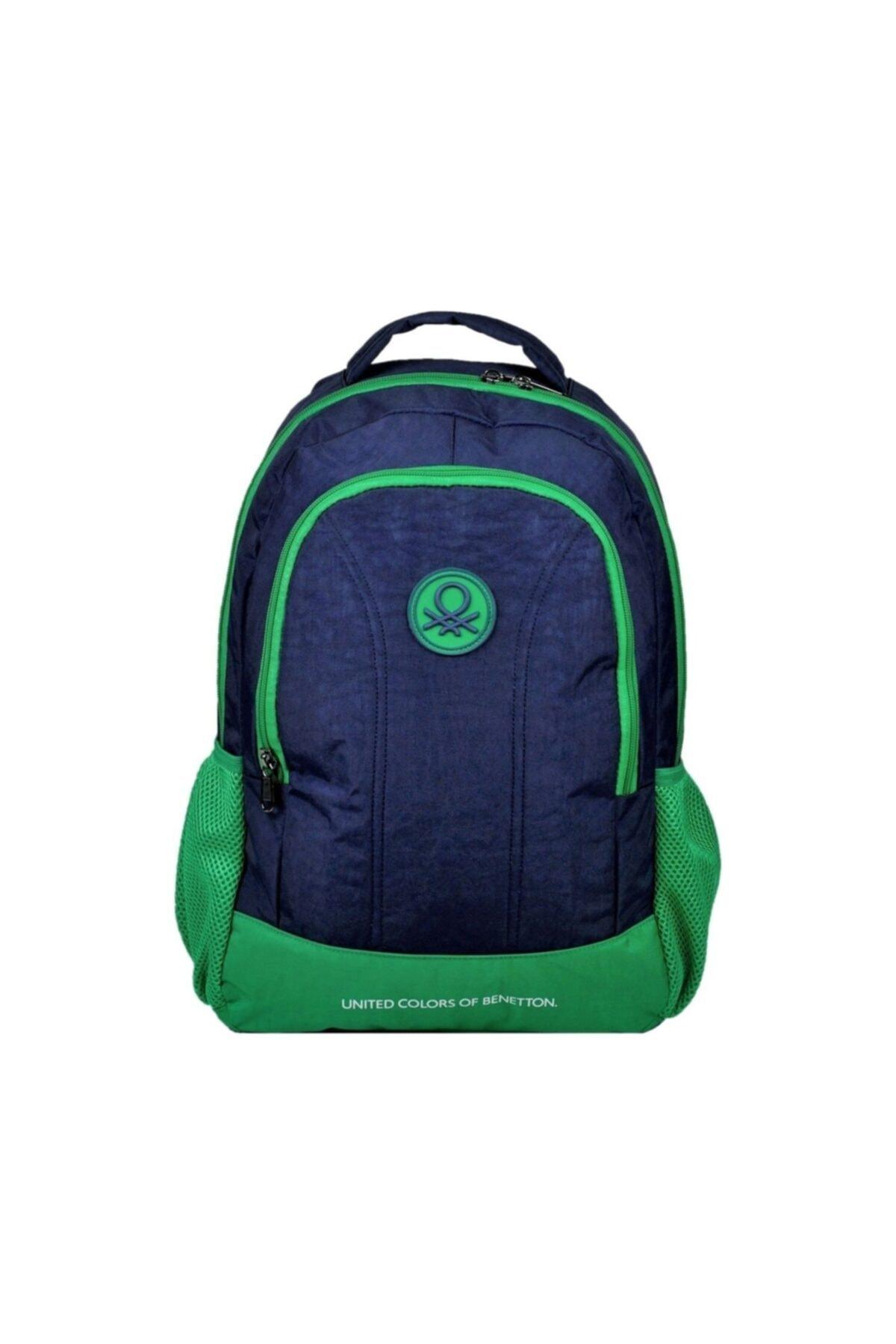 United Colors of Benetton Benetton Lacivert-yeşil Sırt Çantası - Okul Çantası 96014 1