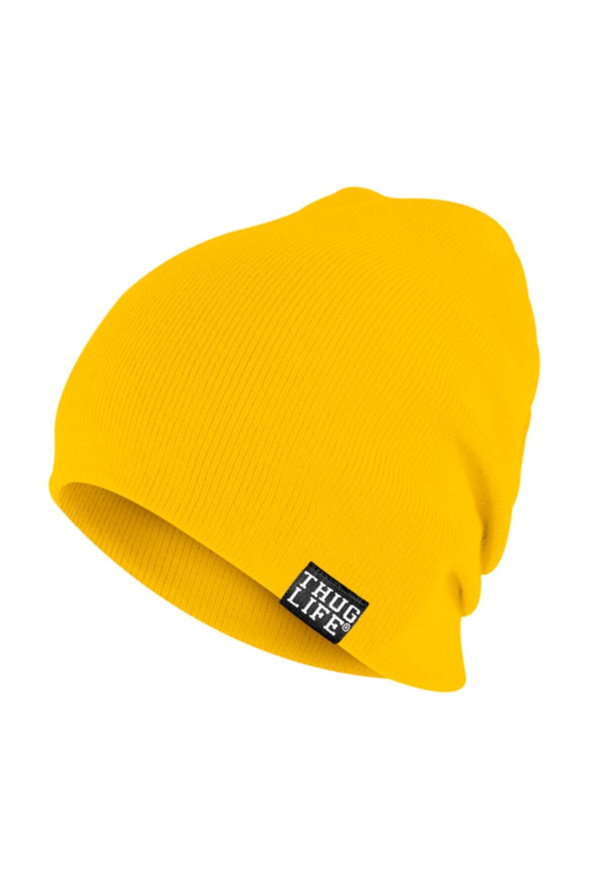 Thug Life Triko Bere Sarı 1