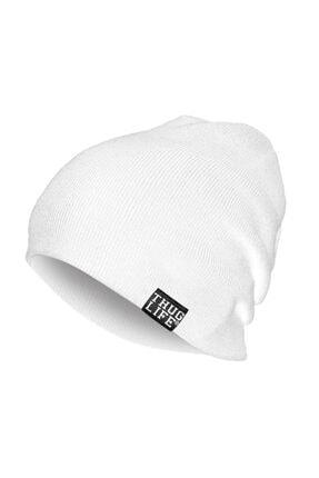 Thug Life Triko Bere Beyaz