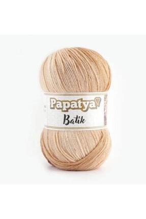 Papatya Bej Batik Örgü İpi