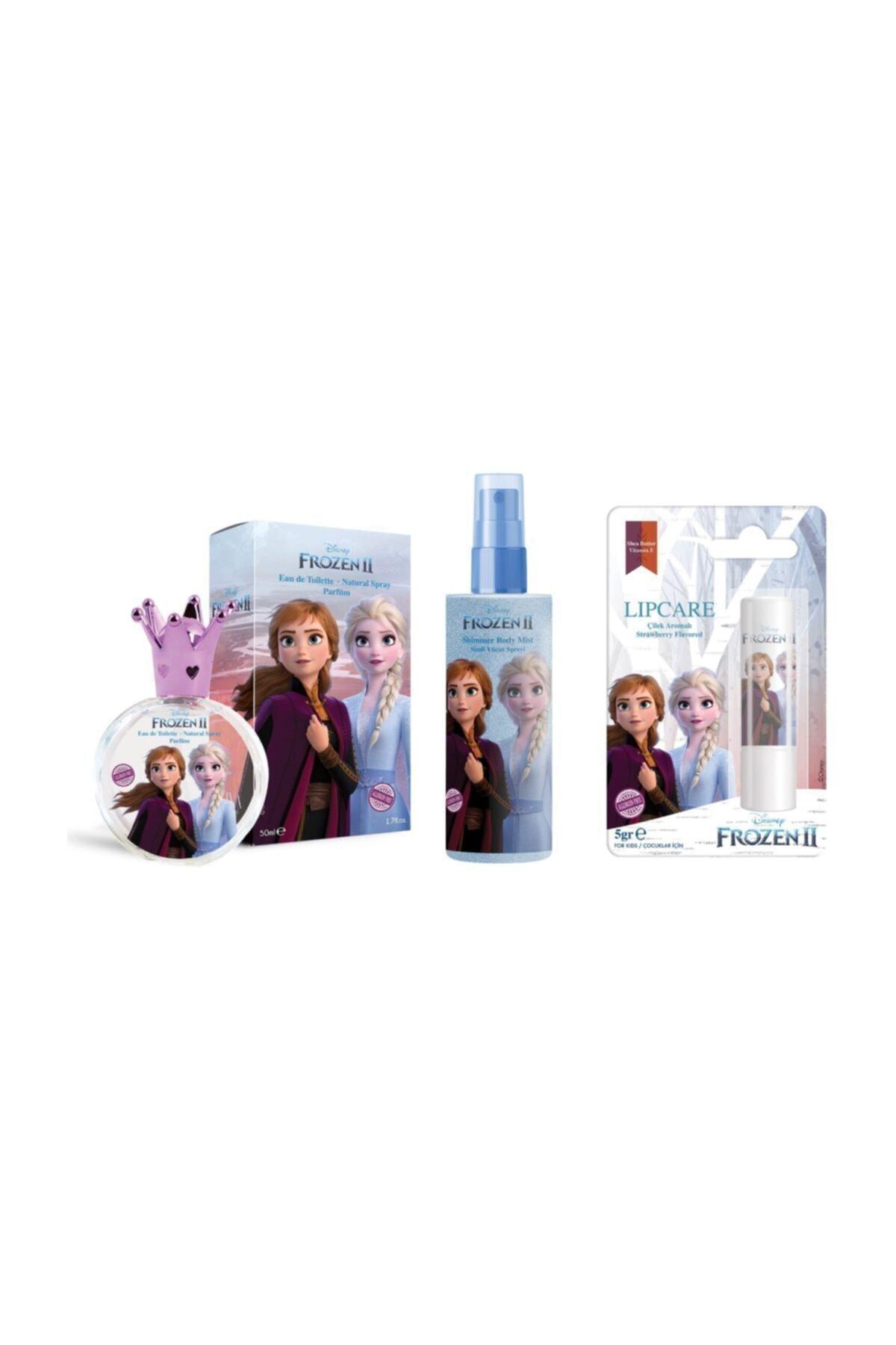 DISNEY Frozen Elsa 50ml Parfüm Edt + Body Mist + Lip Stick 1
