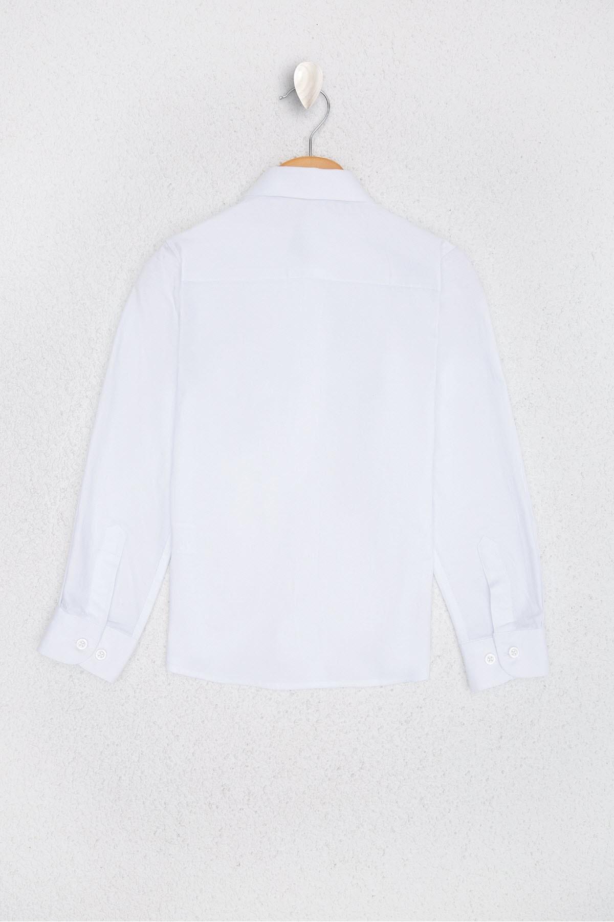 U.S. Polo Assn. Beyaz Kız Çocuk Dokuma Gömlek 2