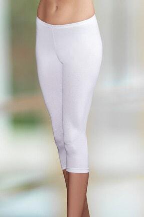 Şahinler Kadın Beyaz Kısa Tayt Mb882-by