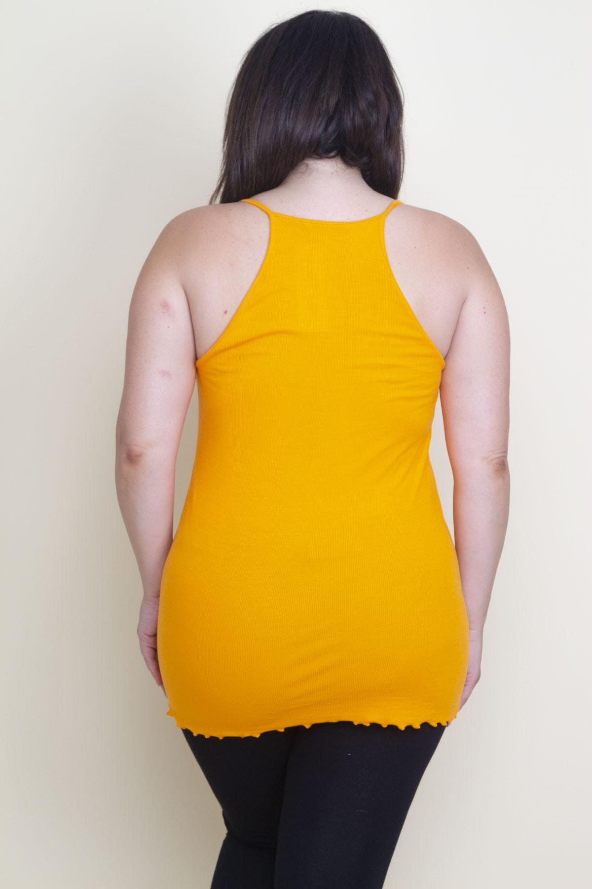 Şans Kadın Oranj Askılı T-Shirt 2