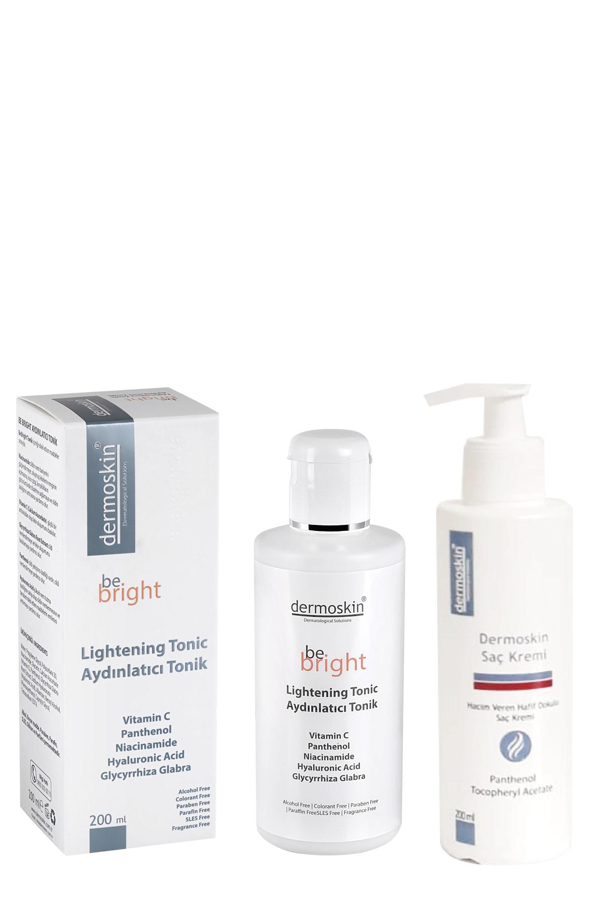 Dermoskin Be Bright Aydınlatıcı Tonik 200 Ml + Saç Kremi Hediyeli Avantaj Paket 200 ml 1