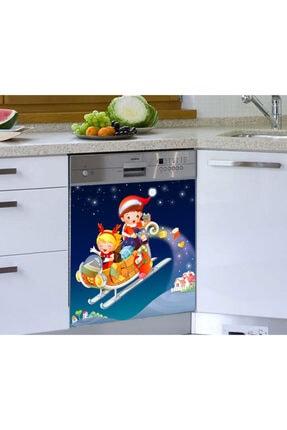 Jasmin2020 Çocuk Noel Baba Bulaşık Makinesi Sticker