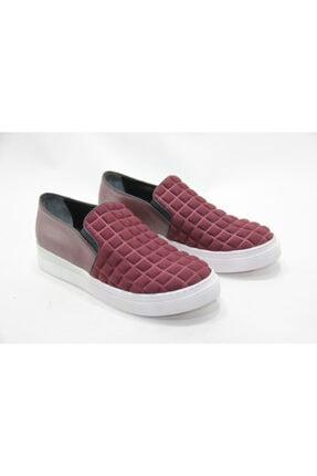 İnci Kadın Kırmızı Desenli Ayakkabı
