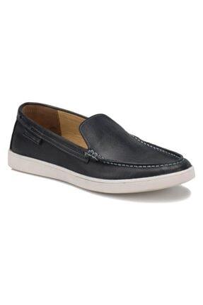 Flogart 174 M1492 Erkek Siyah Hakiki Deri Casual  Günlük Ayakkabı