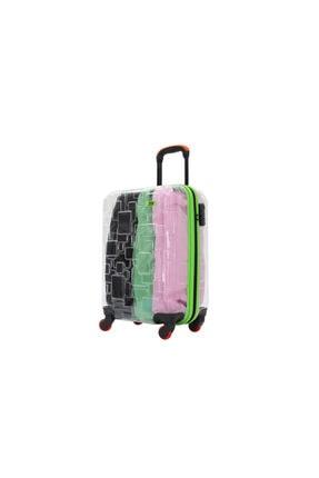 MY SARACİYE 1my010136s-3 My Luggage Şeffaf Abs Kabin Boy Valiz, Bavul