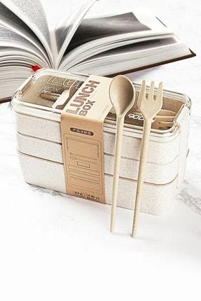 LamproMelloni Lunchbox-mikrodalga Fırına Girebilen 3 Katlı 900 Ml Saklama Kabı
