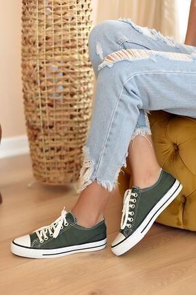 Pembe Potin Kadın Haki Ayakkabı