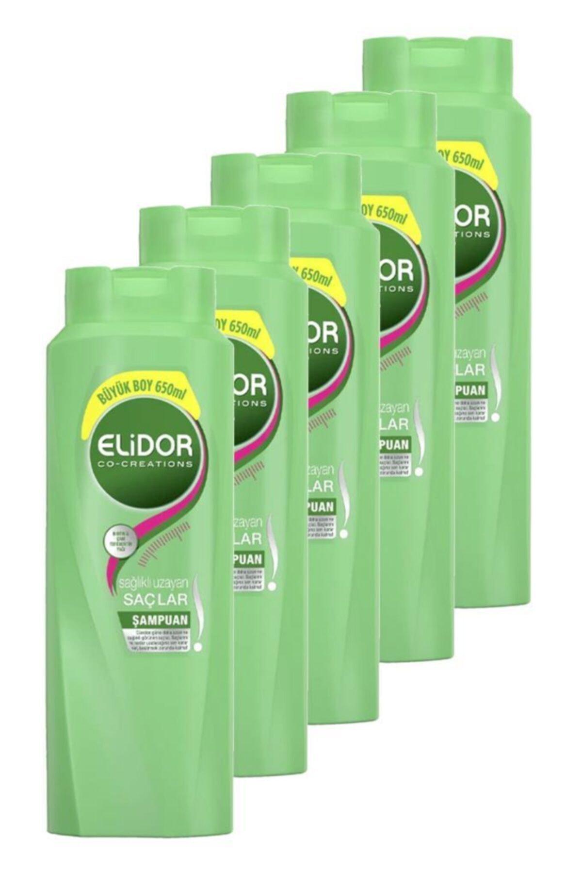 Elidor Şampuan Sağlıklı Uzayan Saçlar 650 Ml. Beşli Set 1