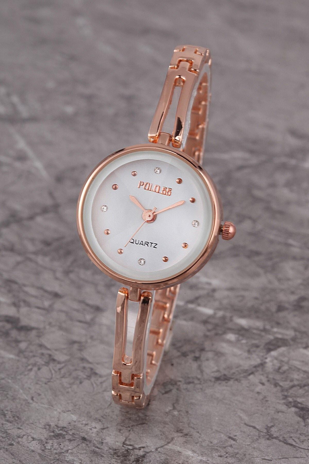 Polo55 Plkm008r02 Kadın Saat Taş Detaylı Kadran Şık Metal Kordon 1