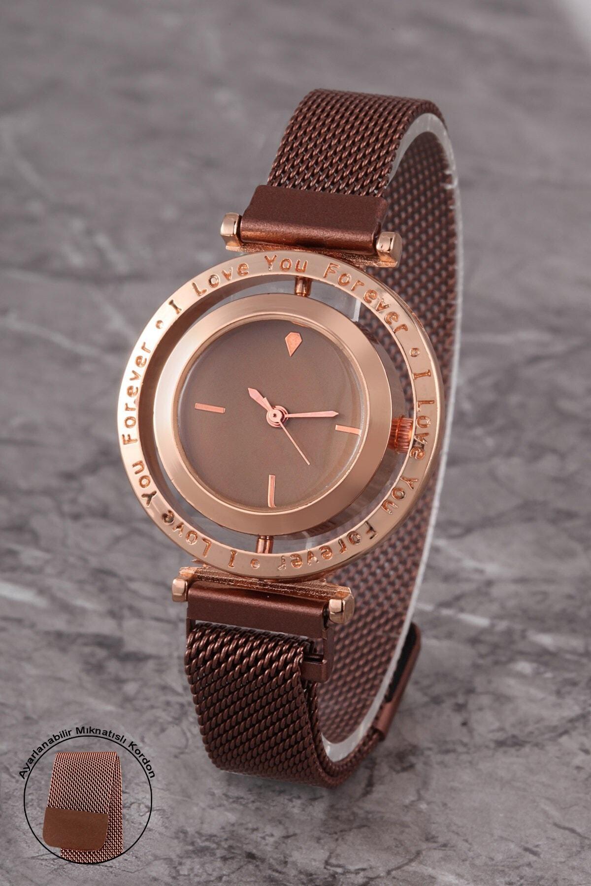 Polo55 Plkhm012r01 Kadın Saat Çizgili Döner Kadran Mıknatıslı Hasır Kordon 1