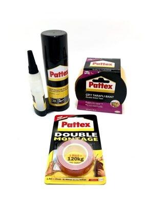 Pattex Set- Montage Çift Taraflı-d.montage-2k Hızlı Yapıştırıcı 3'lü Set