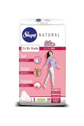 Sleepy Natural Slim Ekstra İnce Normal (30 Ped)