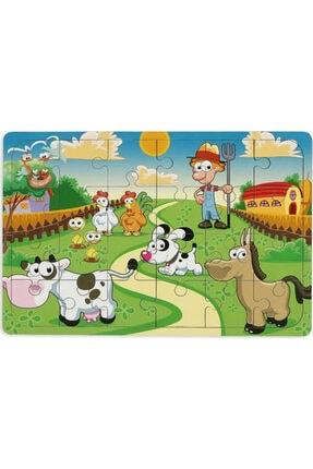 MAKETÇİNİZ Çiftliğim 24 Parça Ahşap Puzzle