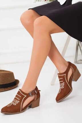 derithy -klasik Topuklu Ayakkabı-taba Süet