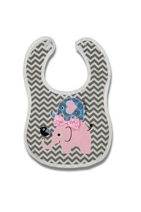 Asa Bebek Çocuk Kız Bebek Fil Desenli Havlu Önlük