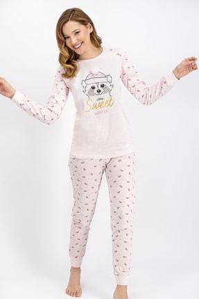 ROLY POLY Kadın Pembemelanj Sweet Winter Pijama Takımı