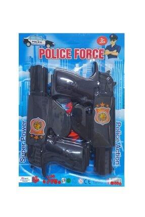 Brother Toys Erkek Çocuk Siyah Kılıflı Ok Atan Tabanca Seti 2li