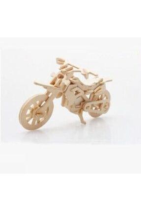rennway 3d Ahşap Puzzle - Motosiklet