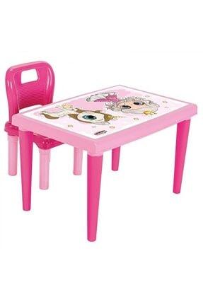 Anka Toyrosso Ders Çalışma Masası Sandalyeli Pembe