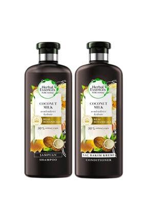 Herbal Essences Şampuan Hindistan Cevizi Sütü 400ml+saç Bakım Kremi 360ml