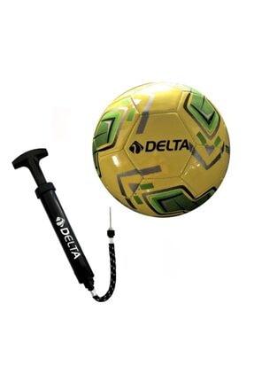 Delta Tempo 5 Numara Dikişli Futbol Topu + Top Pompası