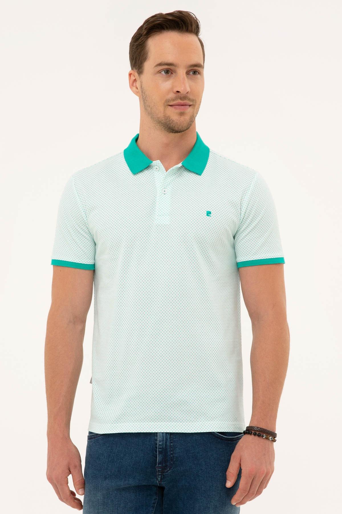 Pierre Cardin Erkek Mint Yeşil Slim Fit Polo Yaka T-Shirt 1