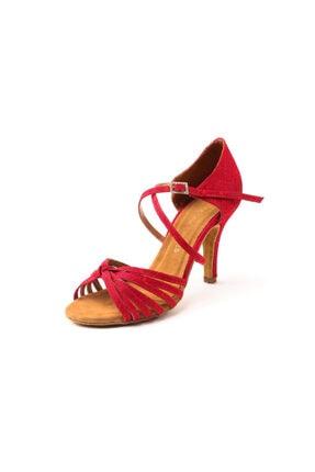 DANS AYAKKABISI Kadın Kırmızı Topuklu Ayakkabı