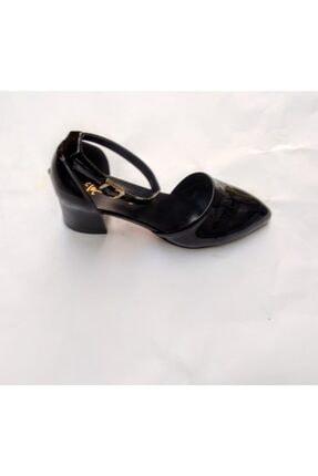 MEGA Kadın Siyah Topuklu Ayakkabı