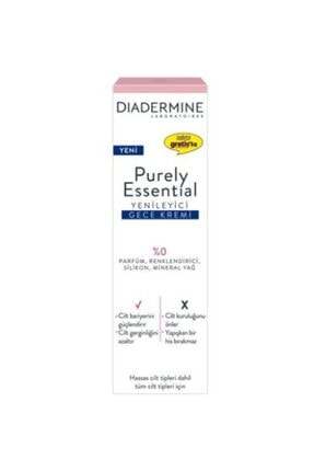 Diadermine Purely Essential Yenileyici Gece Kremi 40 ml 9889445646465465