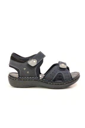 Toddler Erkek Çocuk Siyah Hakiki Deri Sandalet