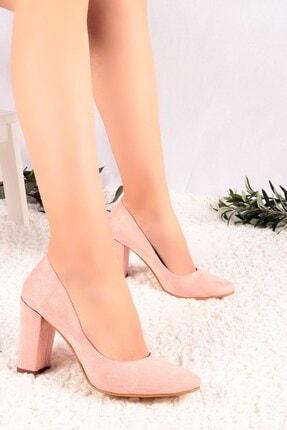 Hayalimdeki Ayakkabı Kadın Pudra Süet Topuklu Ayakkabı