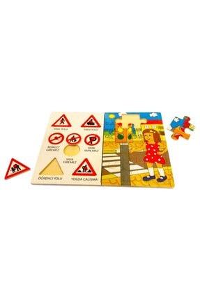 Wooden Toys Trafik Işaretleri Yapboz Puzzle Pazıl