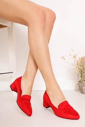 Hayalimdeki Ayakkabı Kadın Kırmızı Süet Ayakkabı