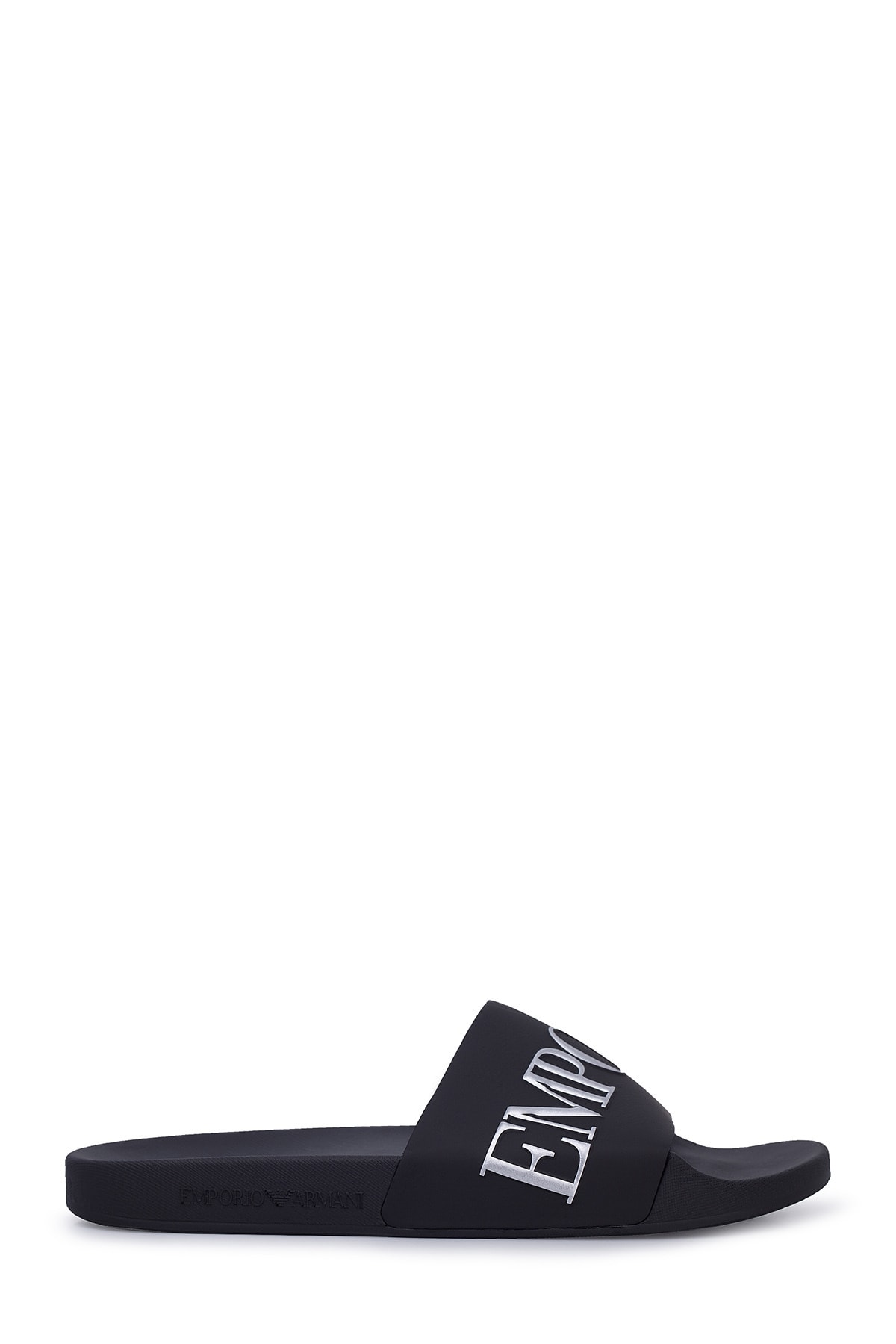 Emporio Armani Erkek Siyah Yazılı Terlik X4ps04 Xm291 M596 1