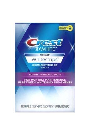 CREST 3d White Monthly Whitening Boost 12 Whitestrips 6 Aylık