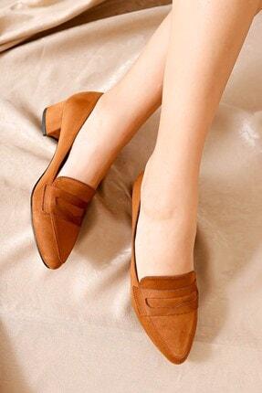Hayalimdeki Ayakkabı Kadın Taba Süet Topuklu Ayakkabı