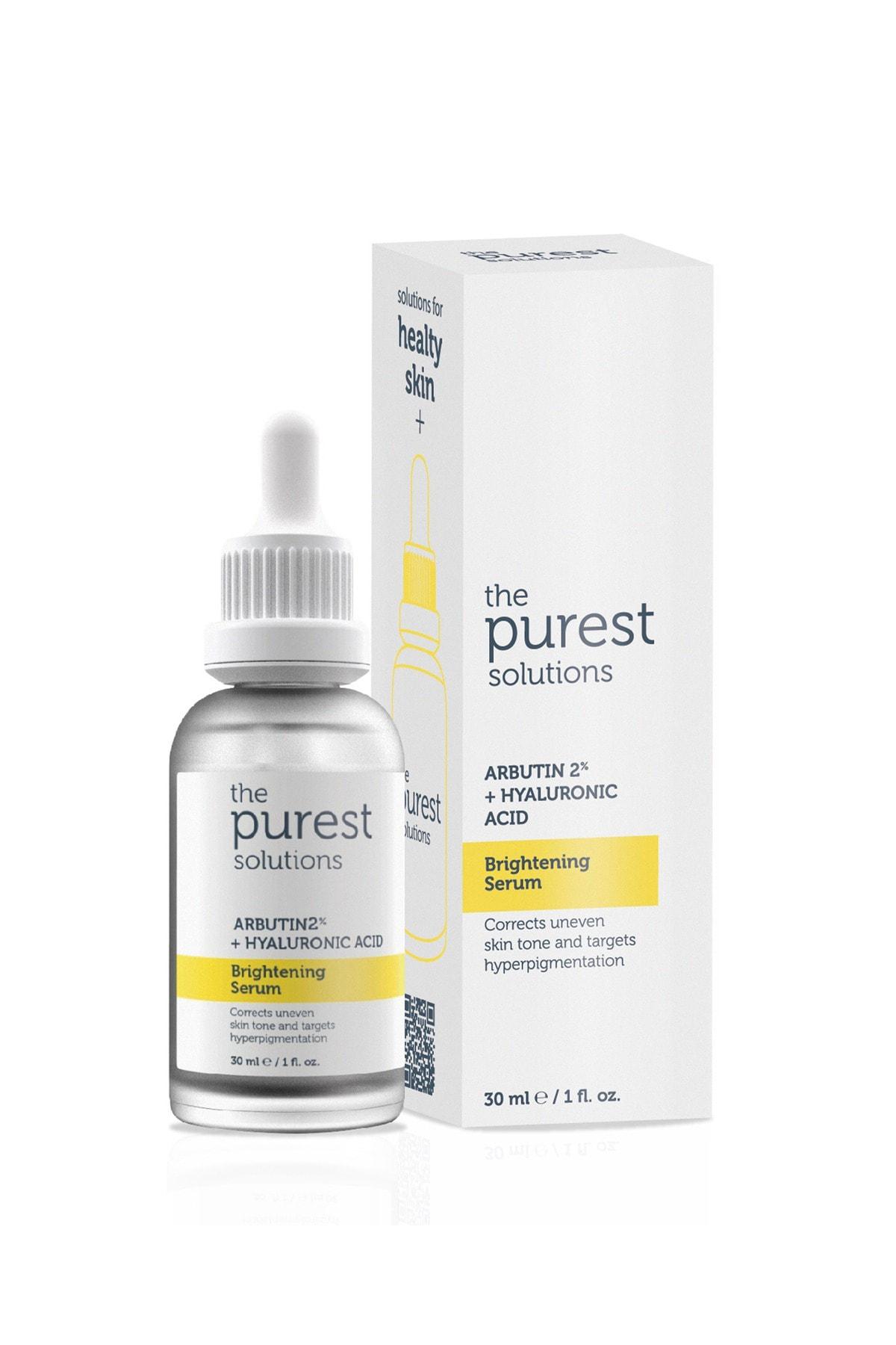 The Purest Solutions Leke Giderici Ve Cilt Tonu Eşitleyici Cilt Bakım Serumu 30 Ml (arbutin %2 + Hyaluronic Acid) 1