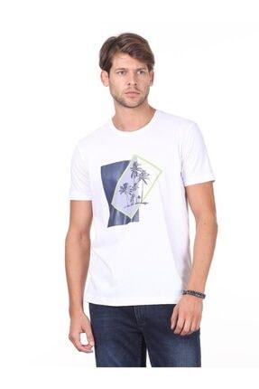 Kip Erkek Lacivert Baskılı Örme T - Shirt KP10120524
